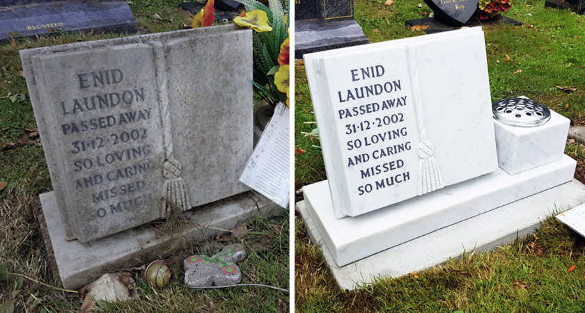 Memorial and headstone restoration